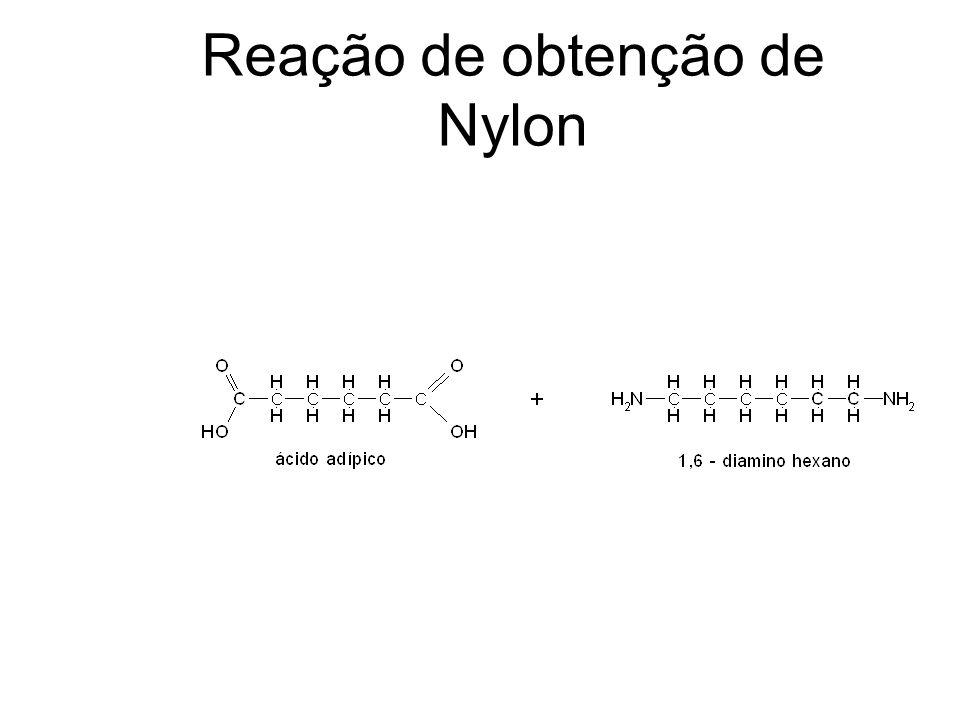 Reação de obtenção de Nylon