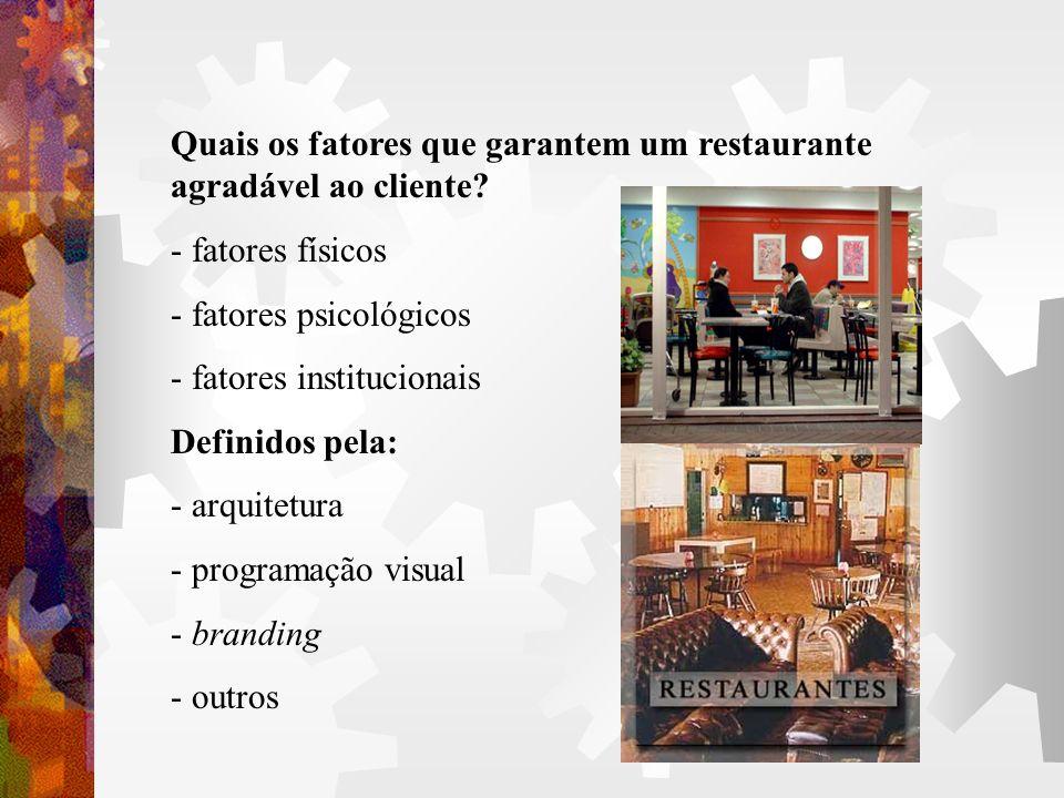 Quais os fatores que garantem um restaurante agradável ao cliente