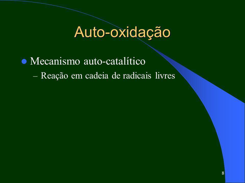 Auto-oxidação Mecanismo auto-catalítico