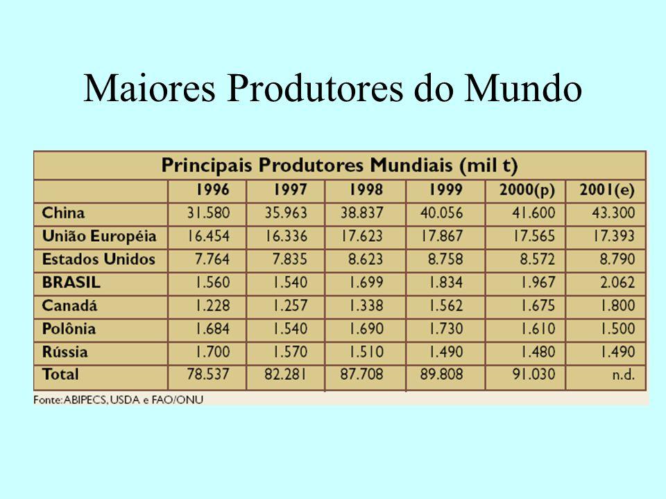 Maiores Produtores do Mundo