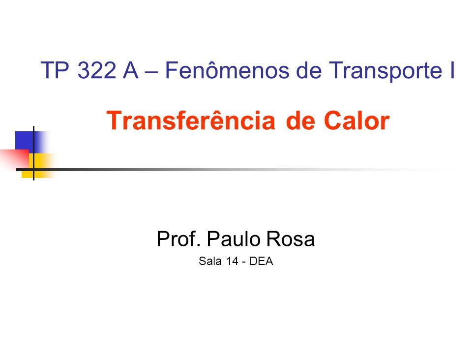TP 322 A – Fenômenos de Transporte I Transferência de Calor