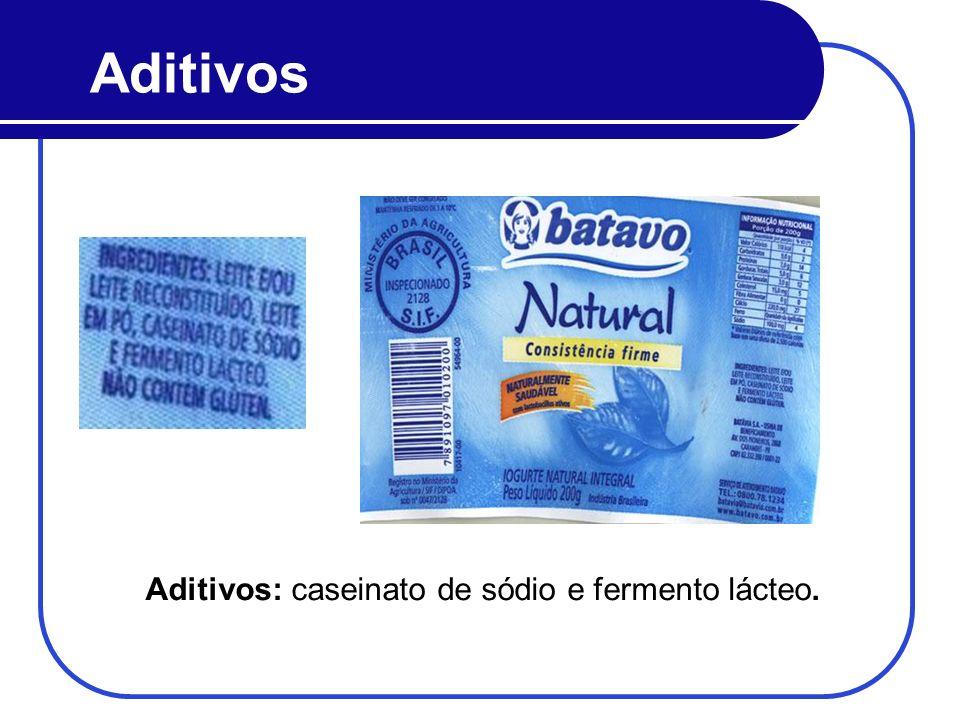 Aditivos: caseinato de sódio e fermento lácteo.