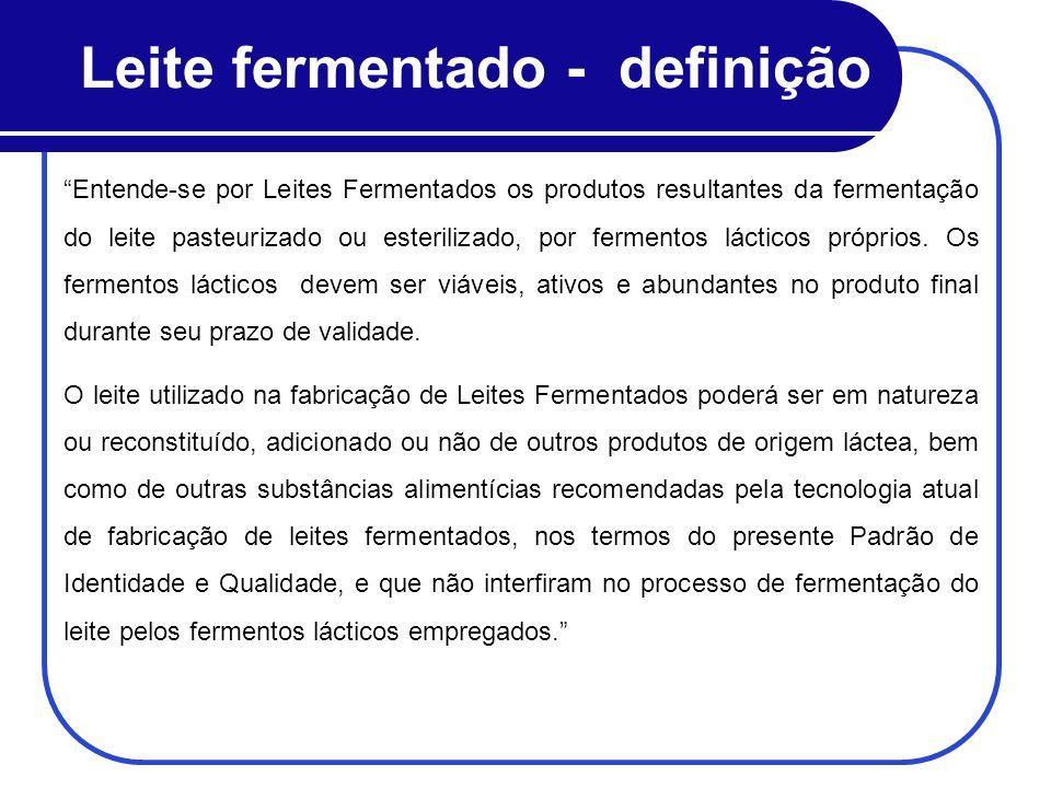 Leite fermentado - definição