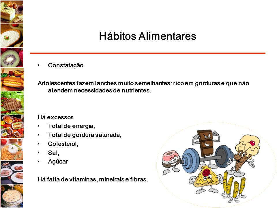 Hábitos Alimentares Constatação