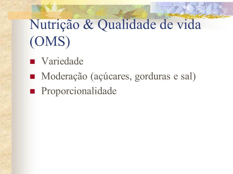 Nutrição & Qualidade de vida (OMS)