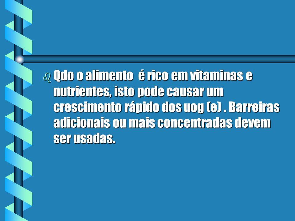 Qdo o alimento é rico em vitaminas e nutrientes, isto pode causar um crescimento rápido dos uog (e) .
