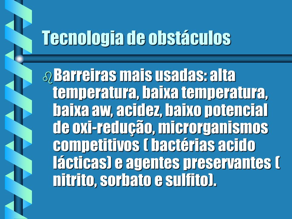 Tecnologia de obstáculos