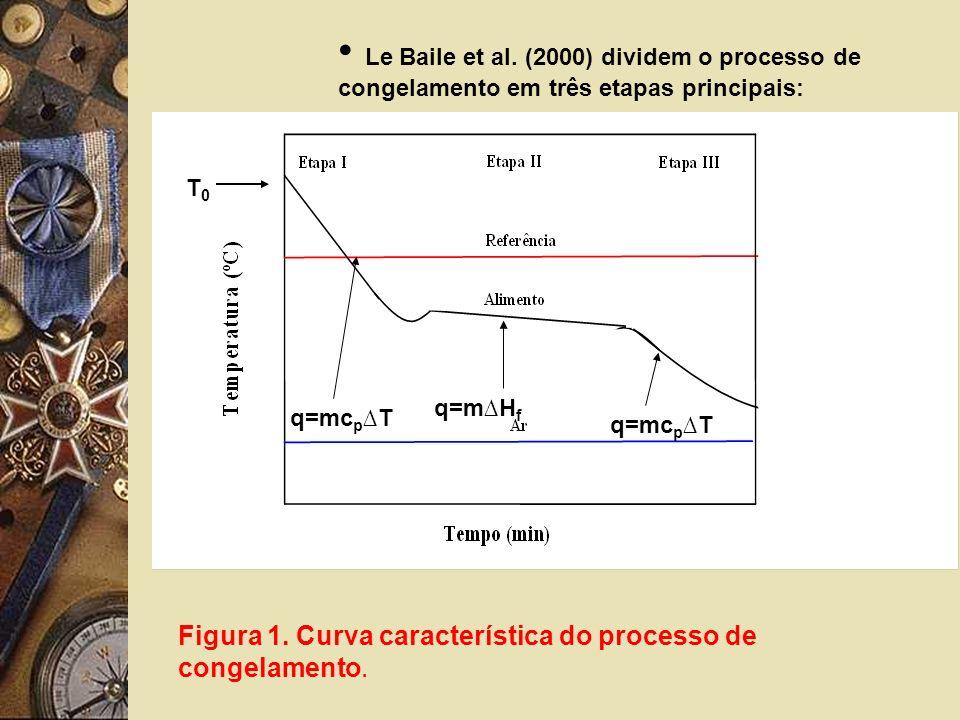 Le Baile et al. (2000) dividem o processo de congelamento em três etapas principais: