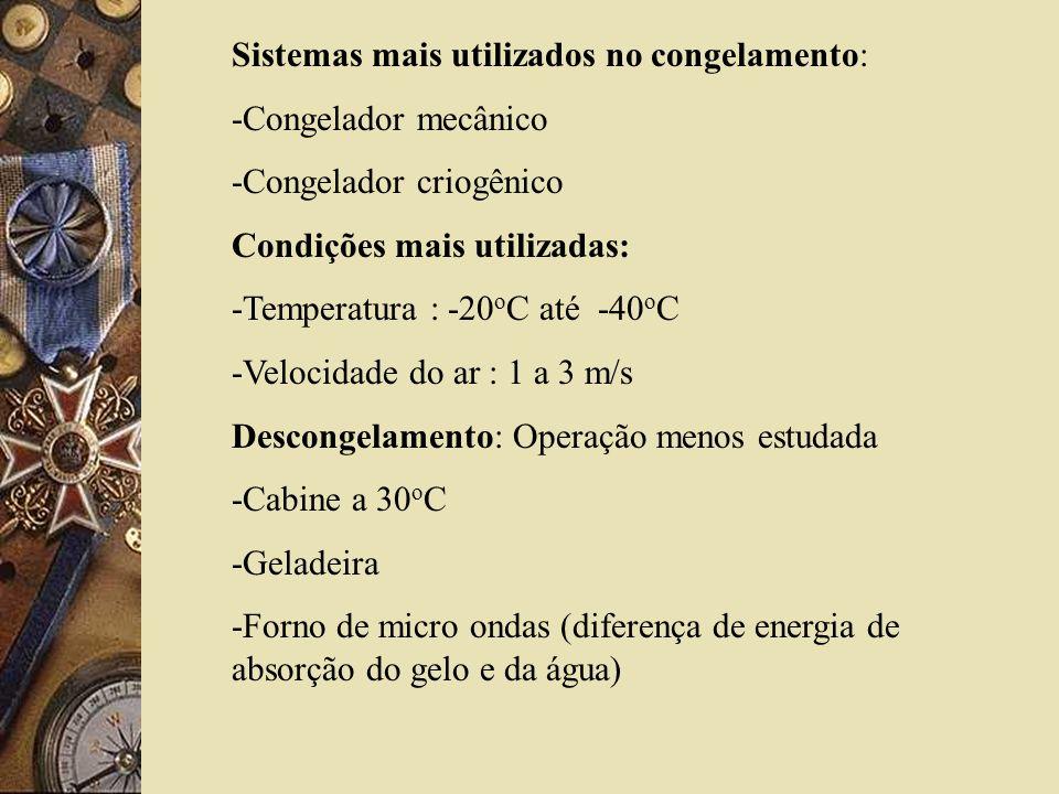 Sistemas mais utilizados no congelamento: