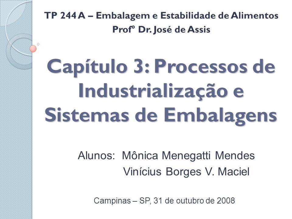 Capítulo 3: Processos de Industrialização e Sistemas de Embalagens