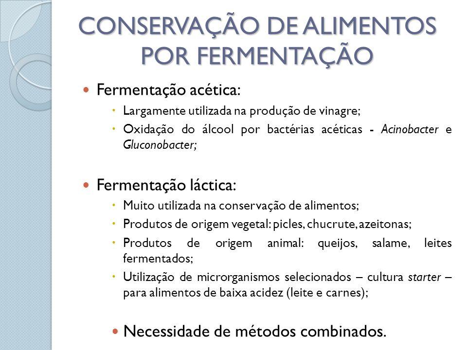 CONSERVAÇÃO DE ALIMENTOS POR FERMENTAÇÃO