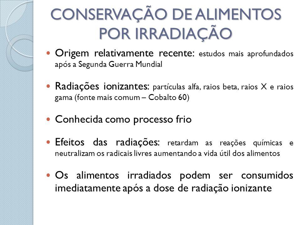 CONSERVAÇÃO DE ALIMENTOS POR IRRADIAÇÃO