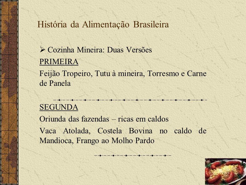 História da Alimentação Brasileira