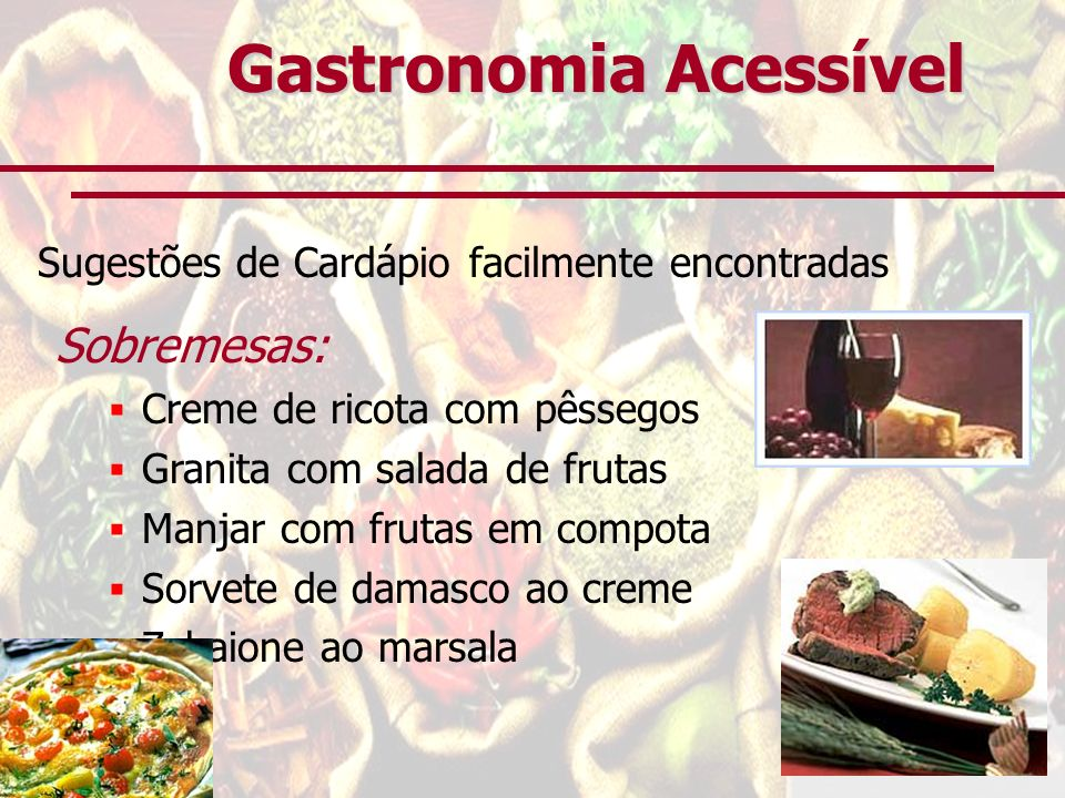 Gastronomia Acessível