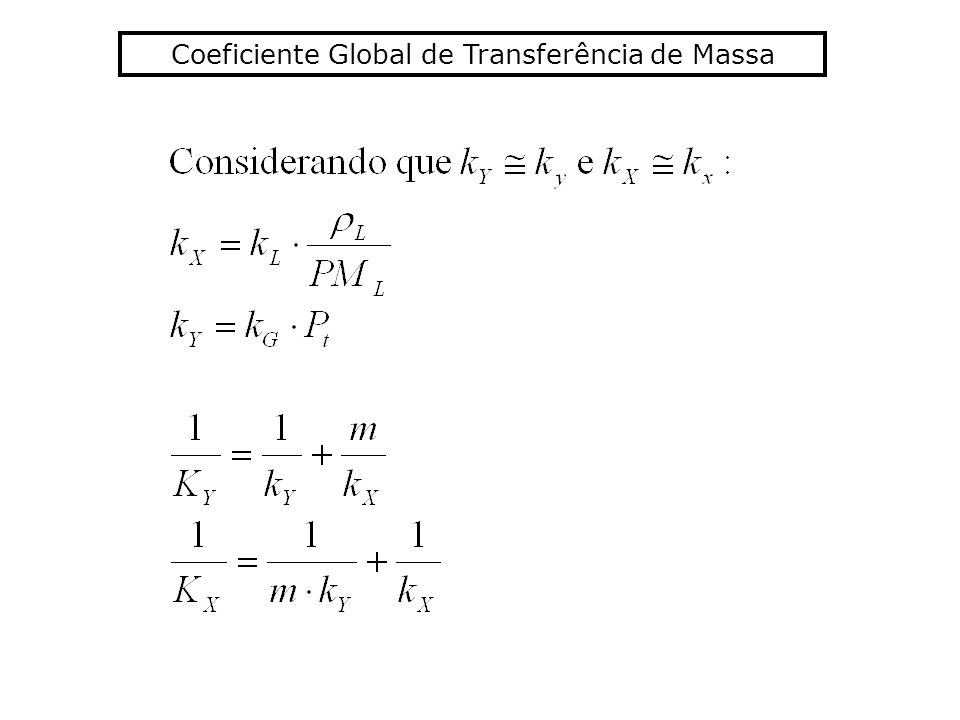 Coeficiente Global de Transferência de Massa