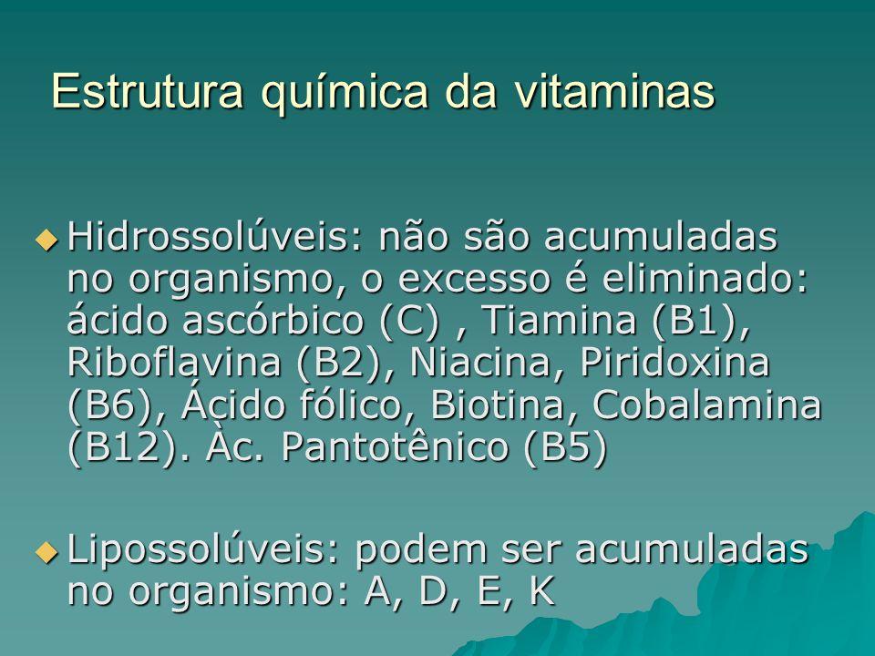 Estrutura química da vitaminas