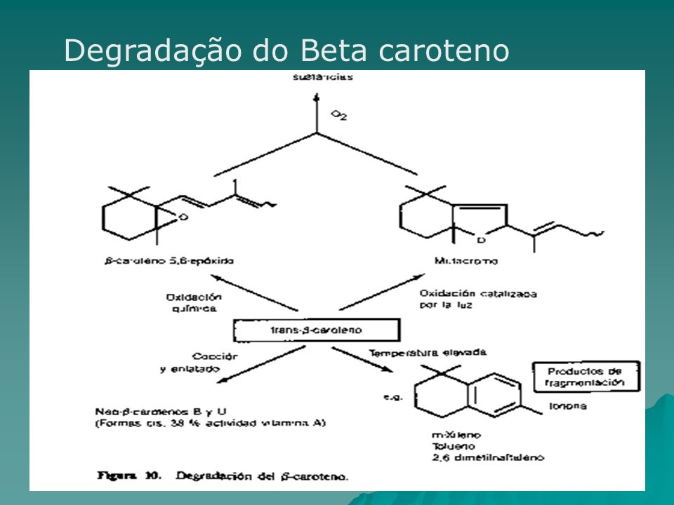 Degradação do Beta caroteno