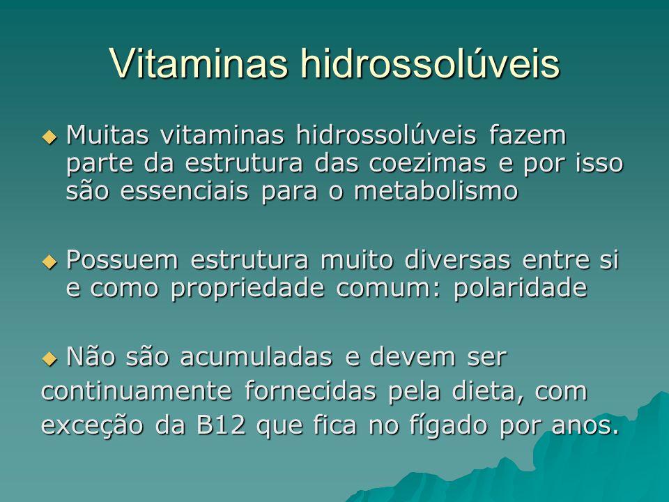 Vitaminas hidrossolúveis