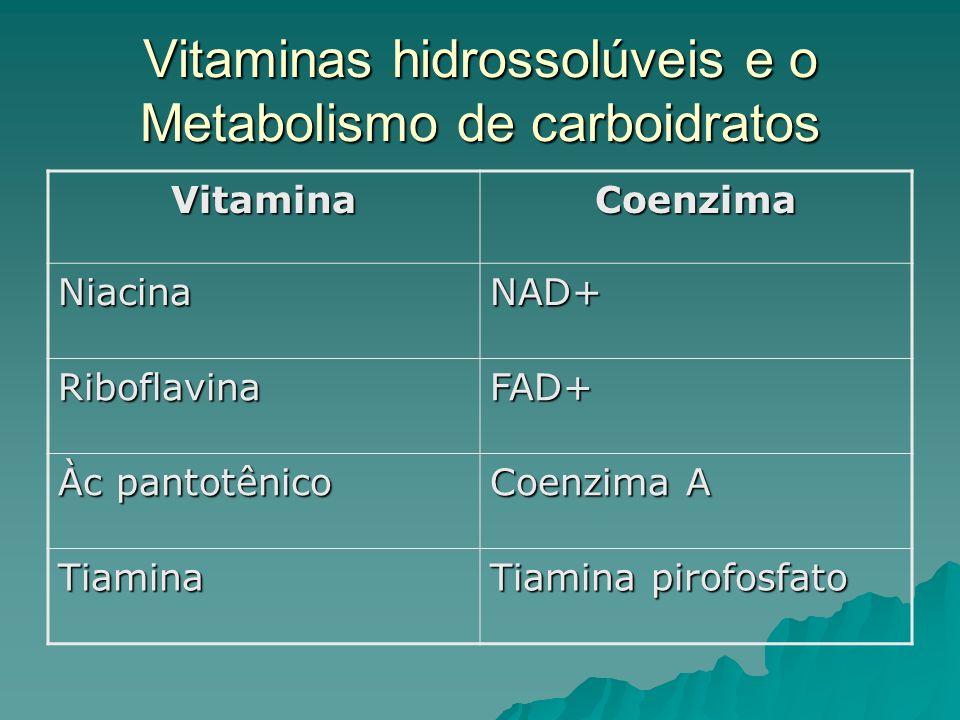 Vitaminas hidrossolúveis e o Metabolismo de carboidratos