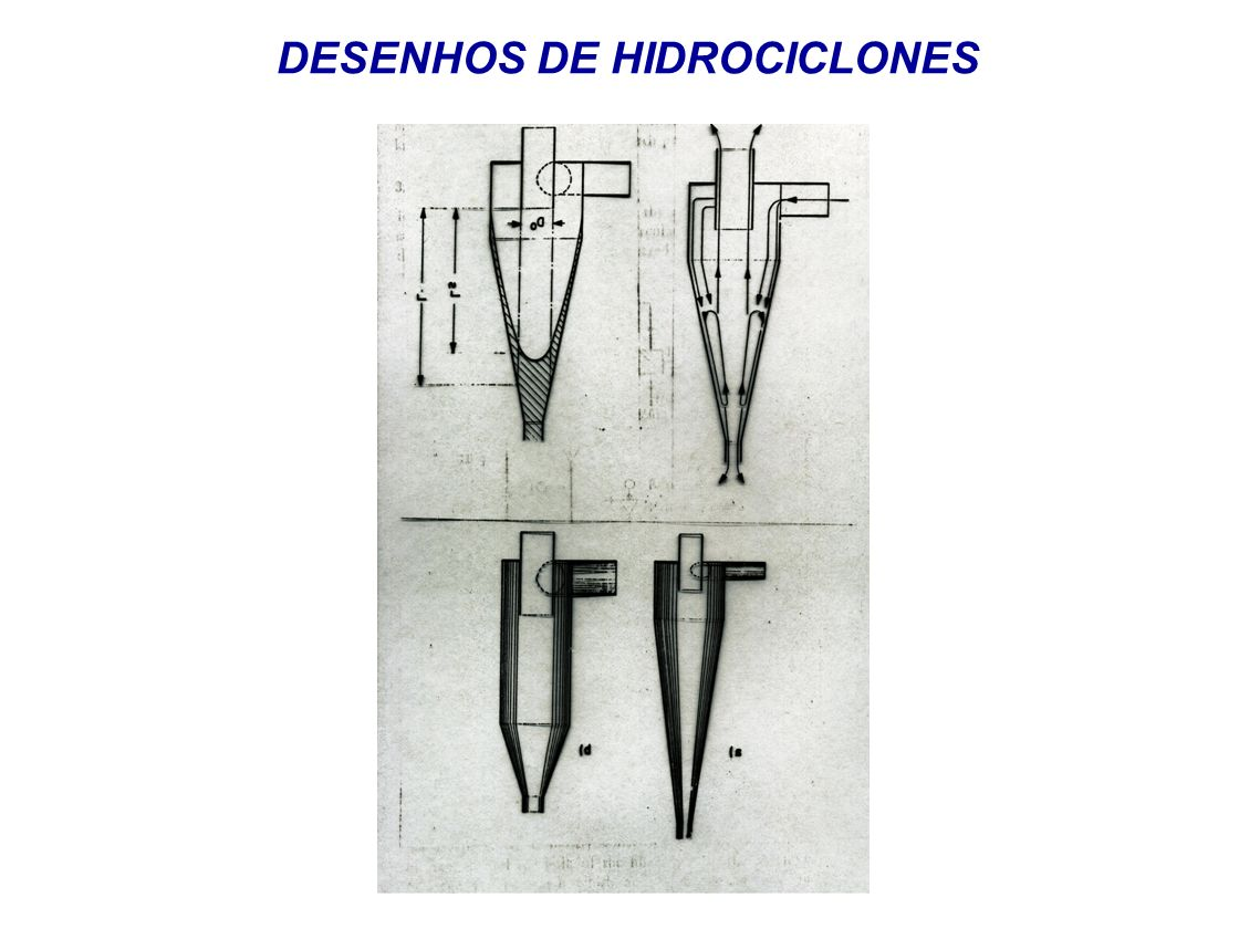 DESENHOS DE HIDROCICLONES