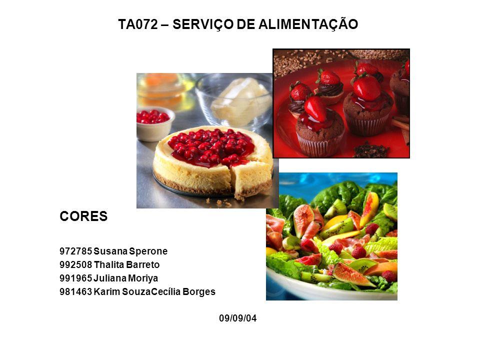TA072 – SERVIÇO DE ALIMENTAÇÃO