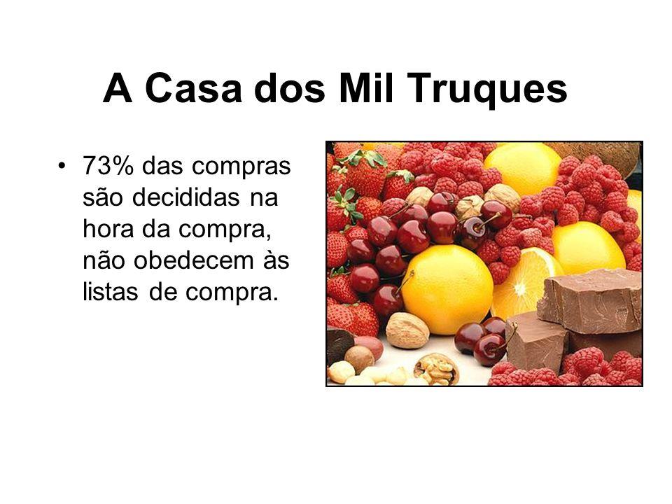A Casa dos Mil Truques 73% das compras são decididas na hora da compra, não obedecem às listas de compra.