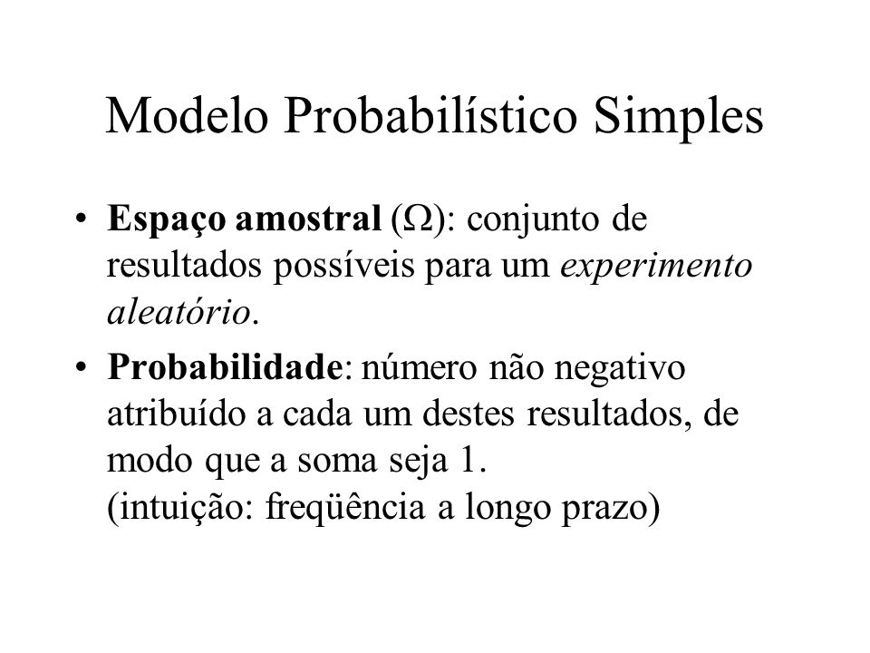 Modelo Probabilístico Simples