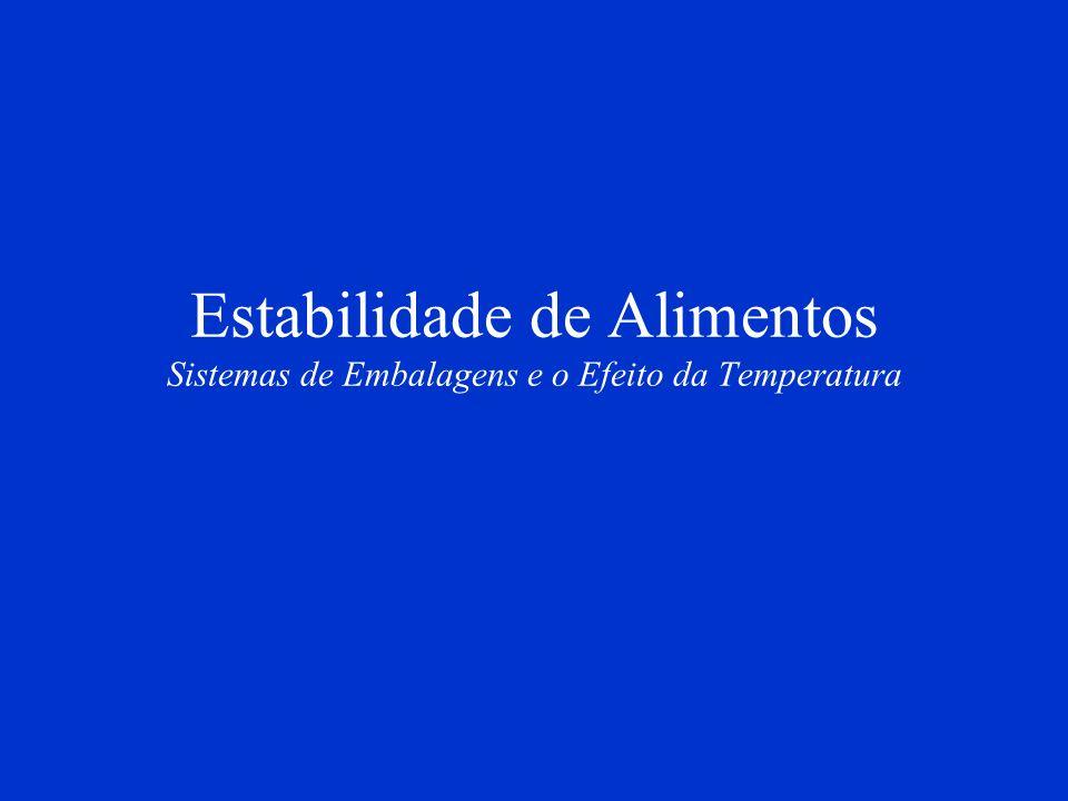 Estabilidade de Alimentos Sistemas de Embalagens e o Efeito da Temperatura