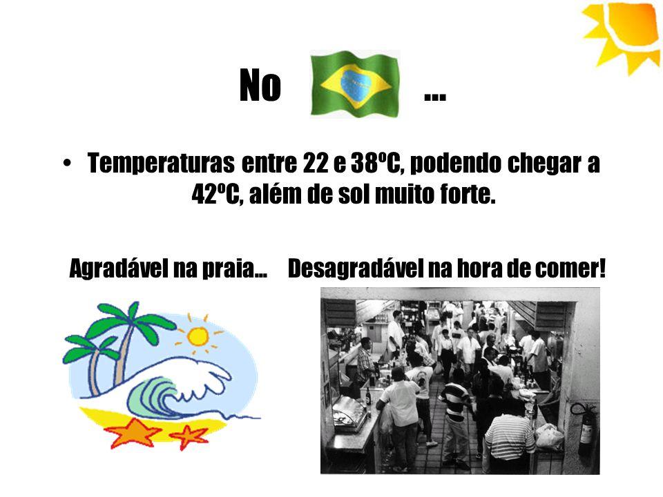 No ...Temperaturas entre 22 e 38ºC, podendo chegar a 42ºC, além de sol muito forte.