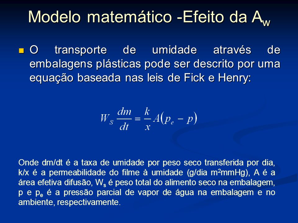 Modelo matemático -Efeito da Aw