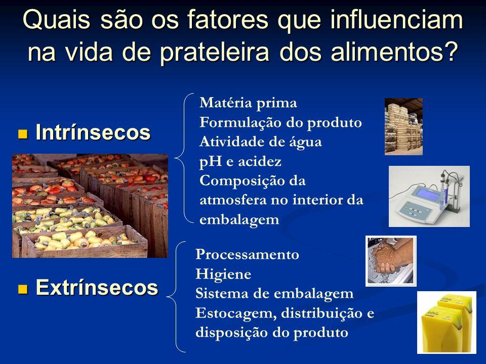Quais são os fatores que influenciam na vida de prateleira dos alimentos