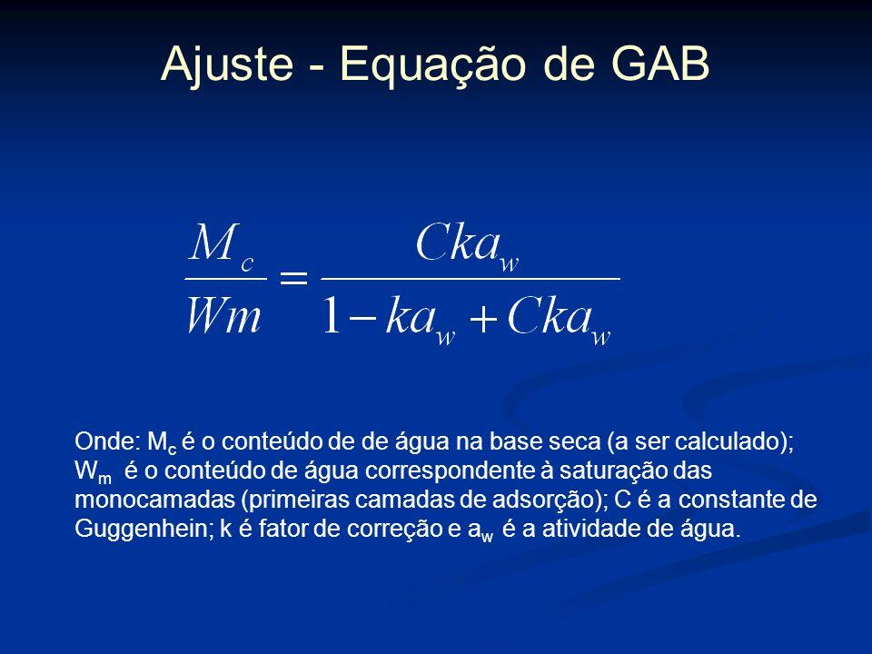 Ajuste - Equação de GAB