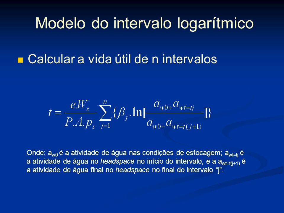 Modelo do intervalo logarítmico