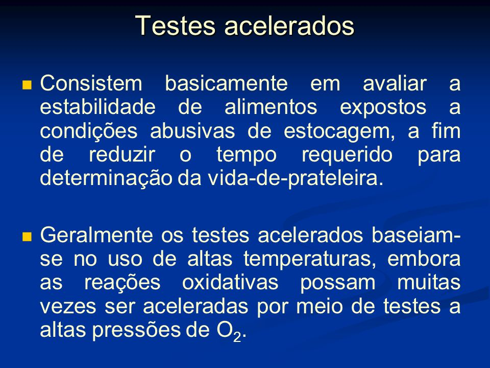 Testes acelerados