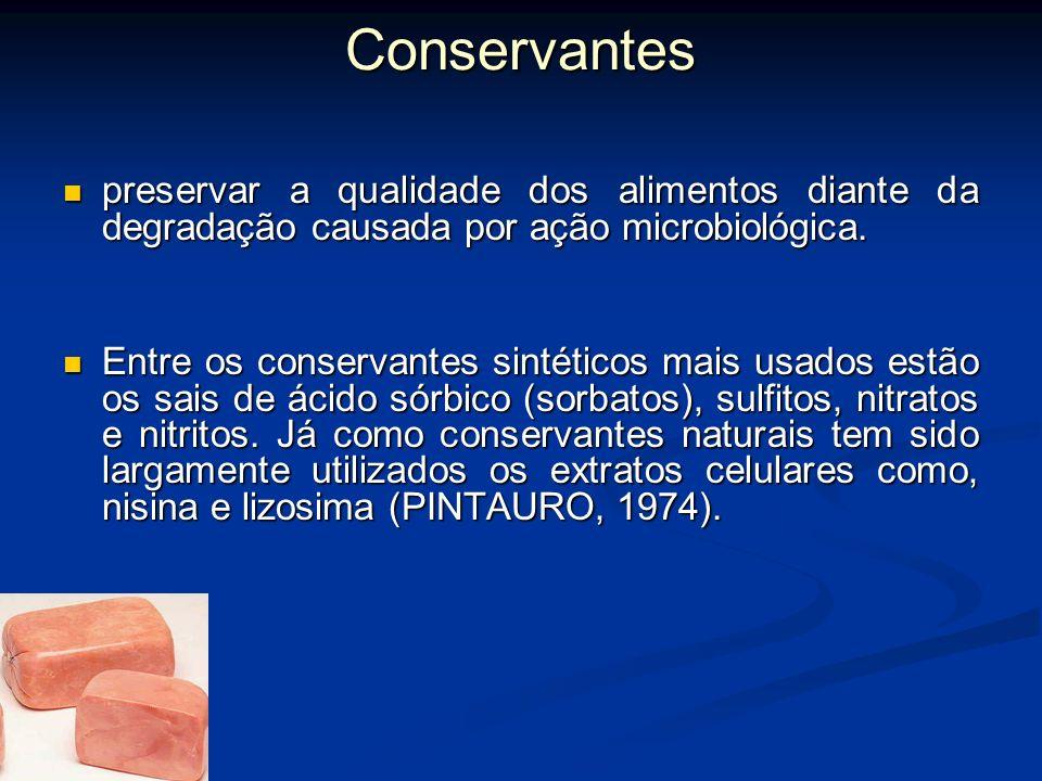 Conservantes preservar a qualidade dos alimentos diante da degradação causada por ação microbiológica.
