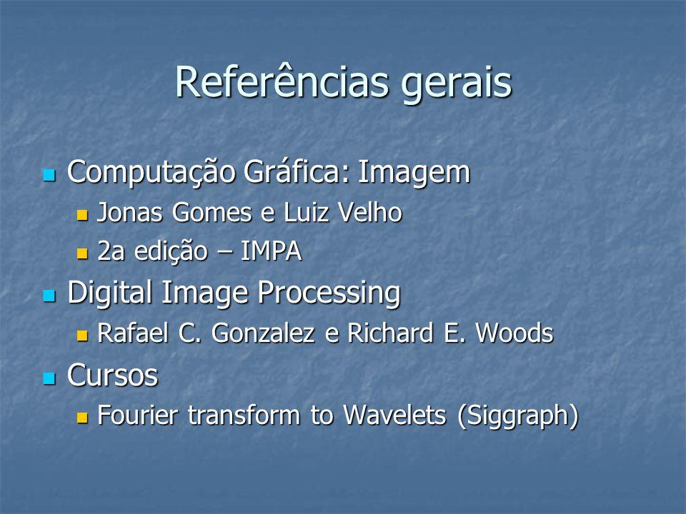 Referências gerais Computação Gráfica: Imagem Digital Image Processing