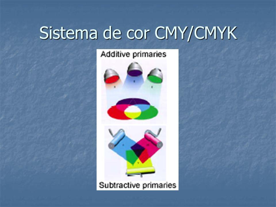Sistema de cor CMY/CMYK