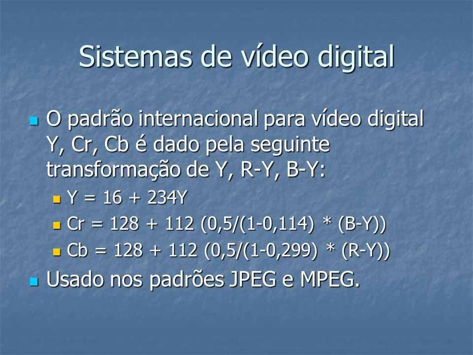 Sistemas de vídeo digital