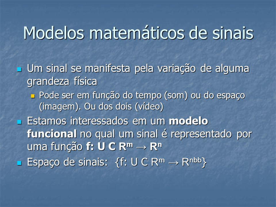 Modelos matemáticos de sinais