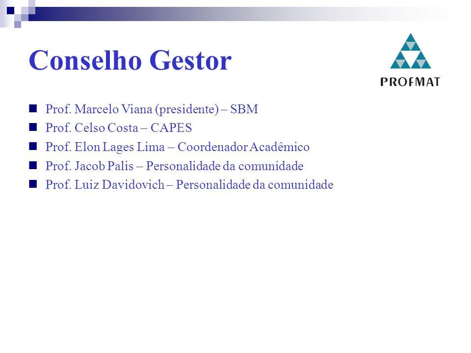 Conselho Gestor Prof. Marcelo Viana (presidente) – SBM