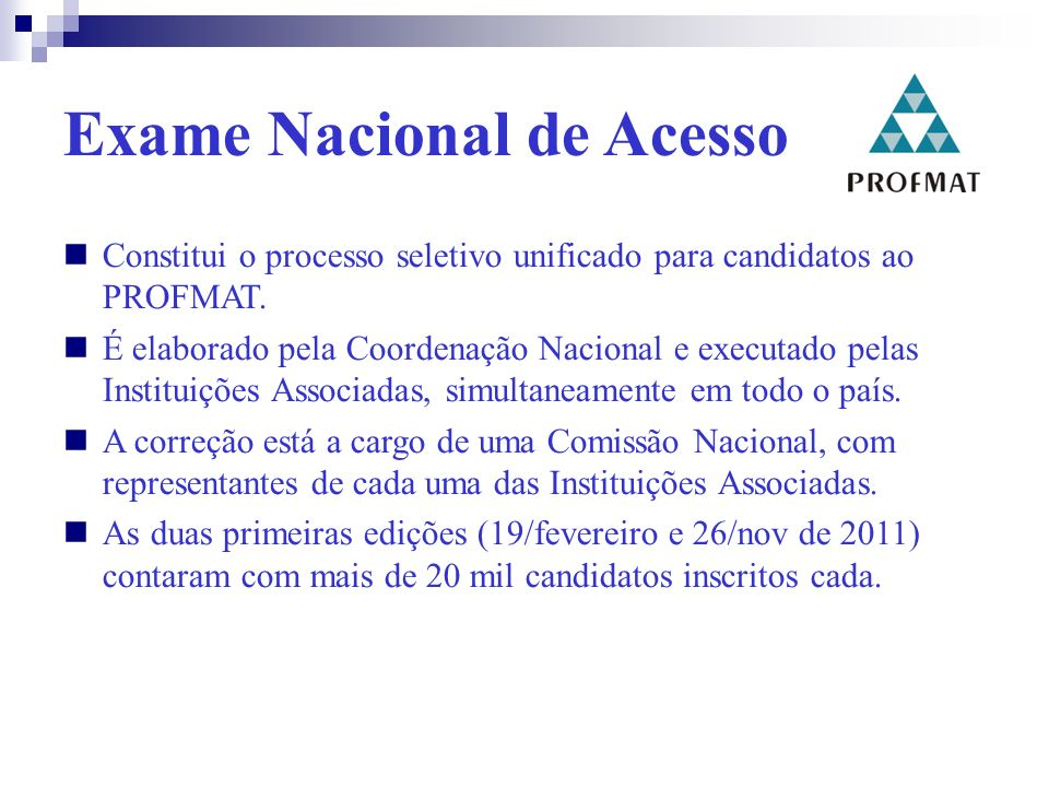 Exame Nacional de Acesso