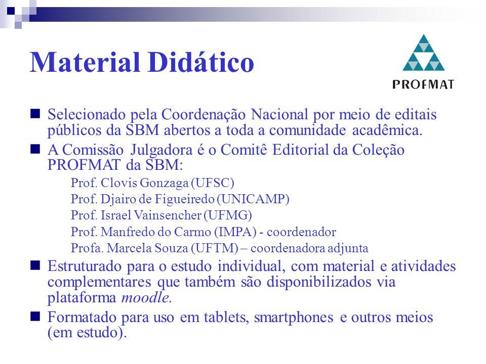 Material Didático Selecionado pela Coordenação Nacional por meio de editais públicos da SBM abertos a toda a comunidade acadêmica.
