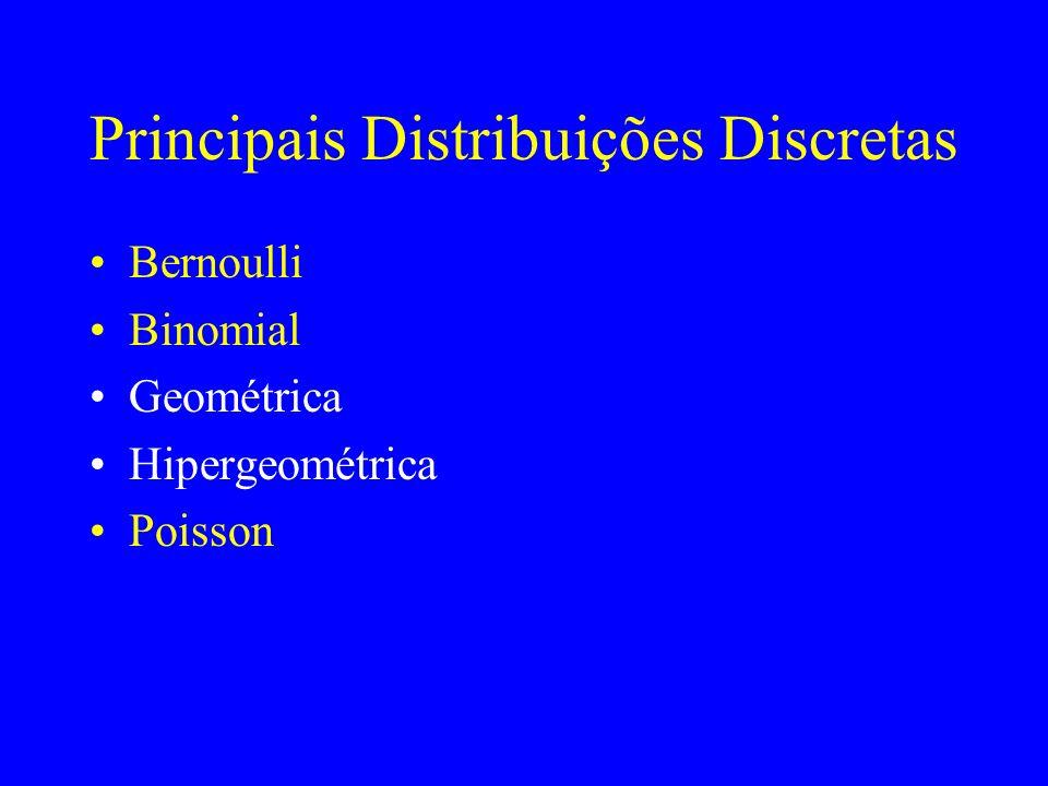 Principais Distribuições Discretas