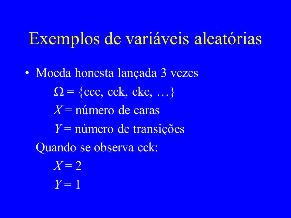 Exemplos de variáveis aleatórias