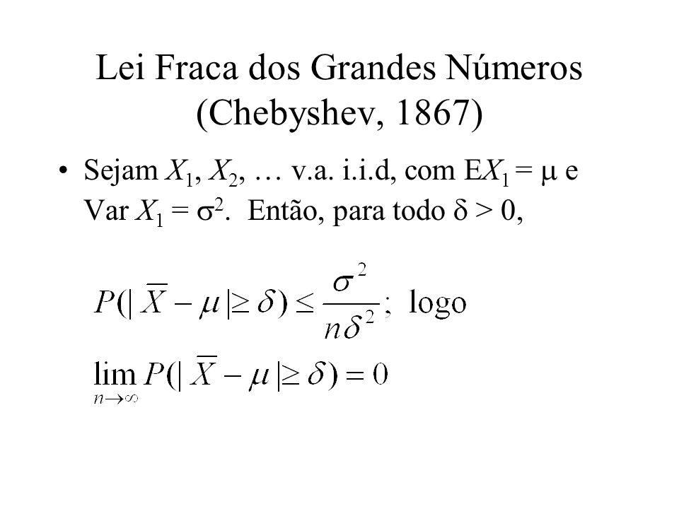 Lei Fraca dos Grandes Números (Chebyshev, 1867)