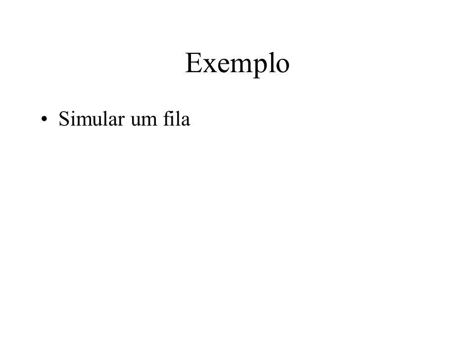 Exemplo Simular um fila