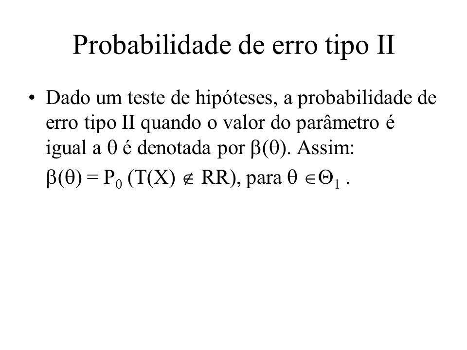 Probabilidade de erro tipo II