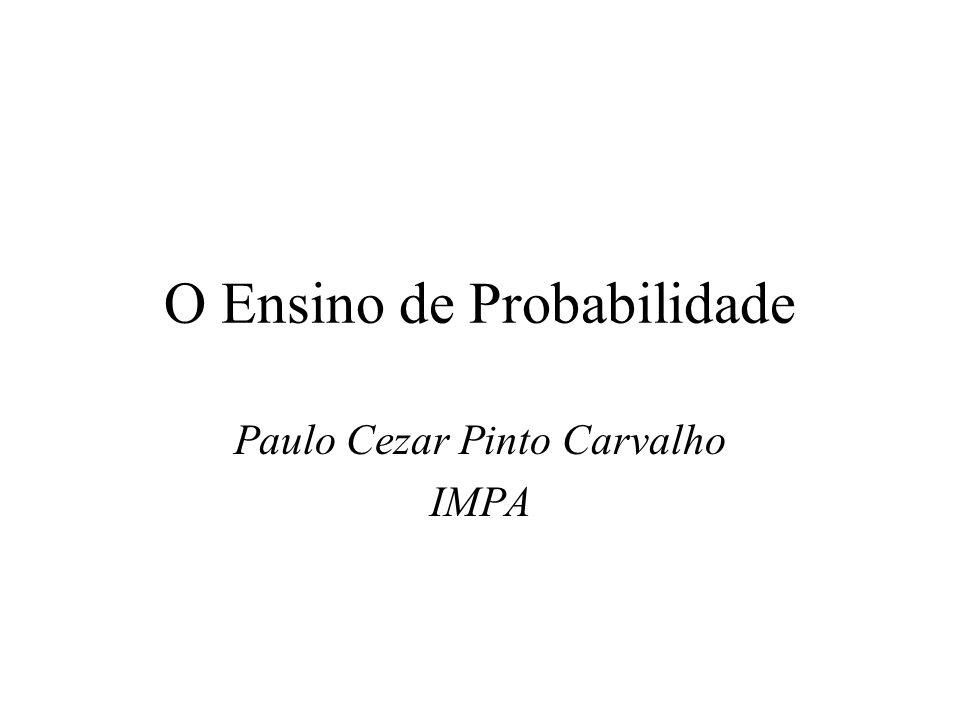 O Ensino de Probabilidade
