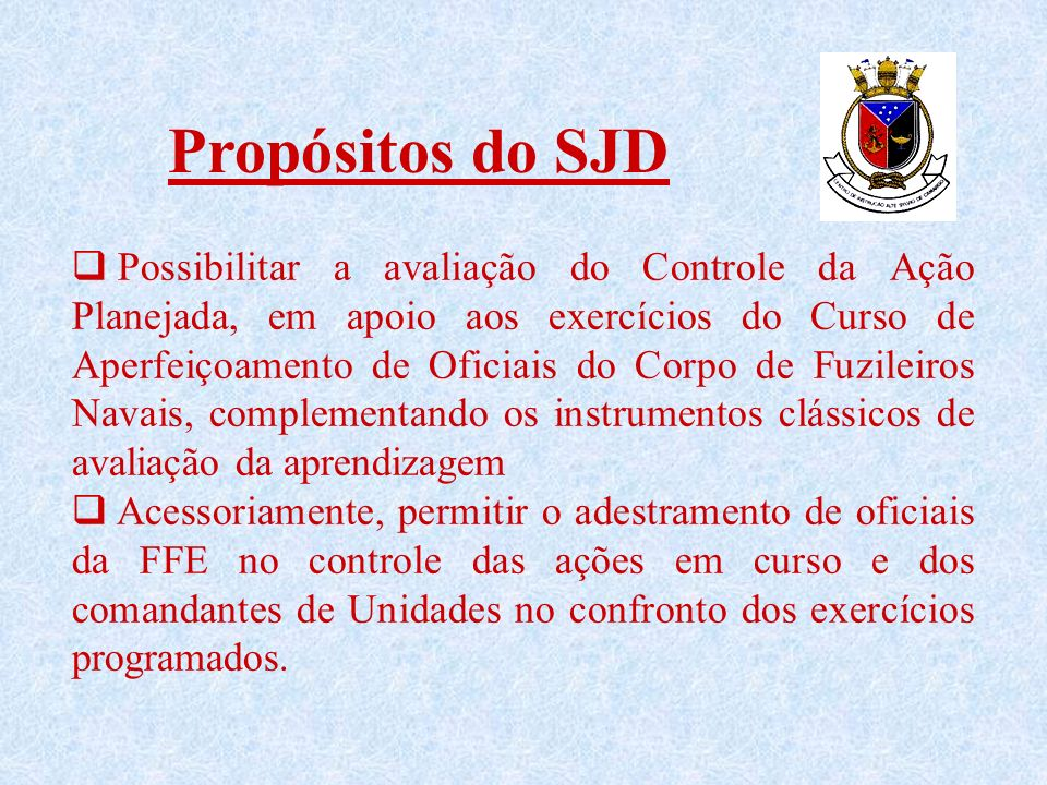 Propósitos do SJD