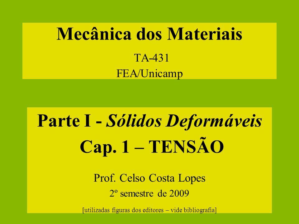 Mecânica dos Materiais TA-431 FEA/Unicamp
